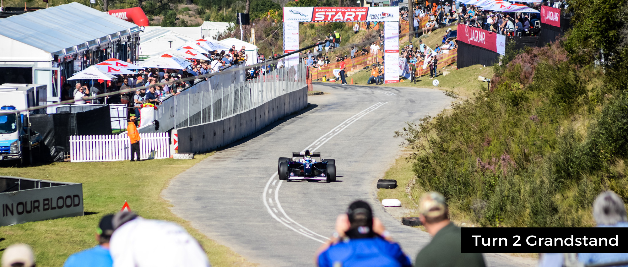 Turn 2 Grandstand, Jaguar Simola Hillclimb