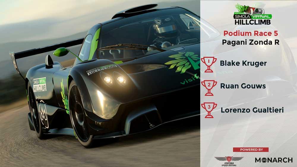 Podium Race 5 - Pagani Zonda R